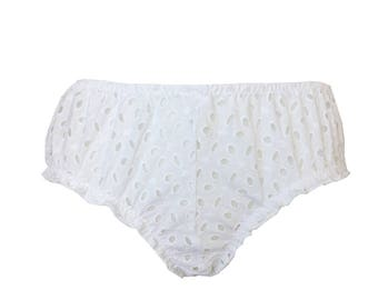 Vanessa- White lace bloomers