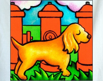 Doggie Hydrant Small Canvas Wall Art 6x6x1.5 in.