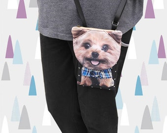 Yorkshire Terrier, phone bag, phone case, iPhone 4s bag, iPhone 5 or 6 bag, Note 3 bag, dog purse, PH 1175