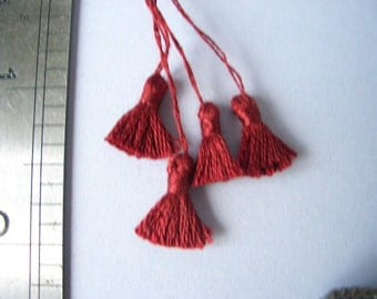 Set of 4 Dk Wine Red Tassels, trimming for Dolls House Furnishings 22