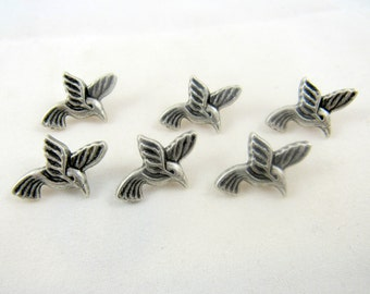 Metal Bird Button 23mm x 17mm