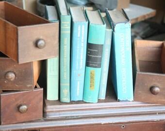 Set of Four, Vintage Wooden Sewing Table Drawers, Drawers with Wooden Handles, Old Drawer, Vintage Drawer, Storage, Dark Wood