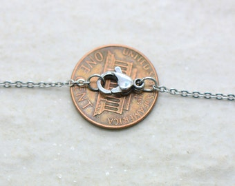 """18"""" Surgical Stainless Necklace Chain, 1.2mm Thick Chain, Dainty Thin Stainless Steel Chain, Jewelry Making Supplies"""