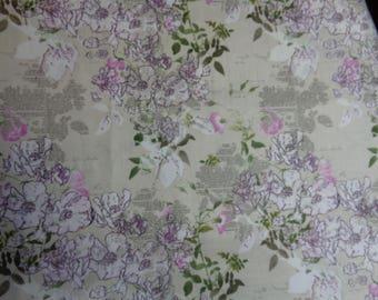"100% Cotton Pink Korean  Fabric -44"" x 27""- Apparel Fabric--Quilting Fabric"