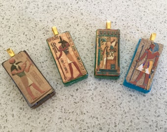 Egyptian Gods Themed Tile Necklaces. -  Choose One of Four Styles