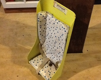 Baby Infant Seat Vintage Yellow Polkadots