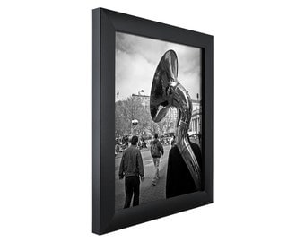 craig frames 6x18 inch modern black picture frame contemporary 1 wide 1wb3bk0618