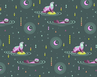 PRESALE - Spirit Animal - Otter and Chill in Lunar - Tula Pink for Free Spirit - PWTP102.LUNAR - 1/2 Yard