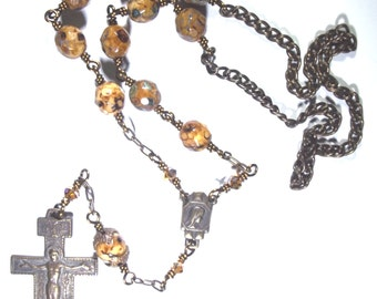 St. Francis of Assisi Crucifix Car Rosary