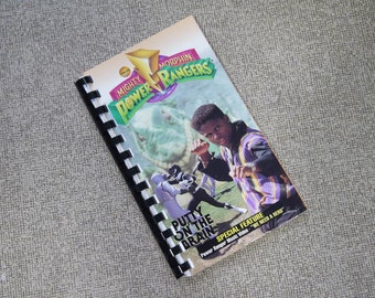 Handmade Mighty Morphin Power Rangers Putty on the Brain 1994 Show Re-purposed VHS Cover Notebook Journal
