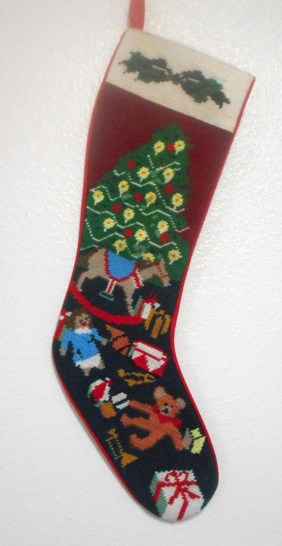 Vintage Needlepoint Stockings Men S Tips