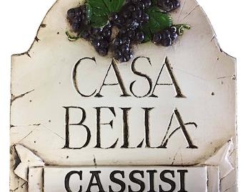 Italian Casa Bella Personalized Sign