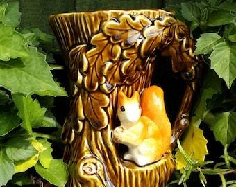 Super Sylvac Vase with cute Squirrel
