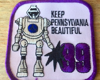 1989 Pennsylvania Robot Patch, Square, 3x3