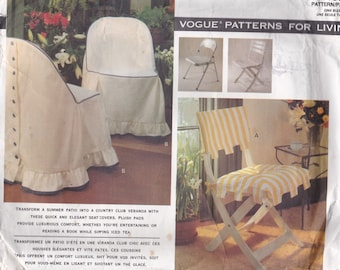 Vogue Patterns for Living - 1156  Six different seat covers Factory folded and complete