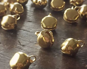 Odessa  Medium (10mm) Bright Gold Jingle Bells (25)