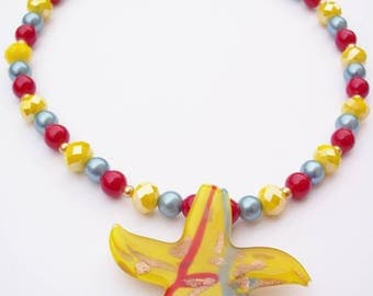 Bright and colourful carnival necklace