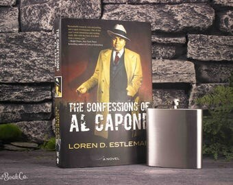 Hollow Book Safe and Hip Flask - The Confessions of Al Capone