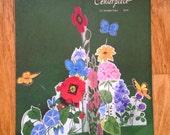 vintage forest flowers cardstock table centerpiece deadstock nos