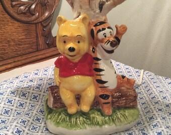 Vintage Ceramic Winnie the Pooh Lamp, Winnie The Pooh Lamp, Walt Disney Productions Winnie the Pooh Lamp Made in Japan, Vintage Pooh Bear