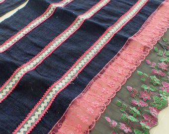 4, yards, Hmong  hemp Vintage fabrics and  textiles - Handwoven hemp-ethnic textiles from thailand