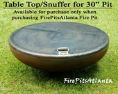 """Steel Table Top for 30"""" Fire Pit - Shipped with fire pit only, no added shipping"""