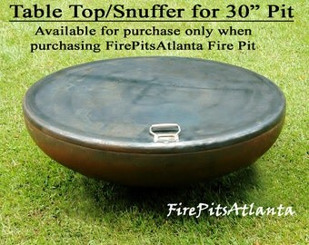 """Steel Table Top for 30"""" Firepit - Shipped with fire pit only fire pit cover fire pit table fire pit fire pits fire bowl snuffer top"""
