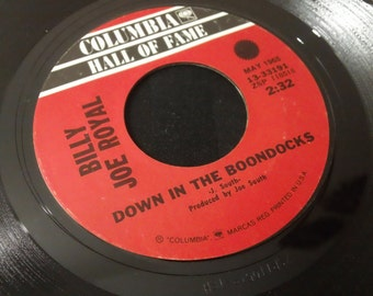 "Billy Joe Royal - Down In The Boondocks / Cherry Hill Park - 13 33191 - 7"" vinyl 45rpm, single (Columbia Records,1969)"