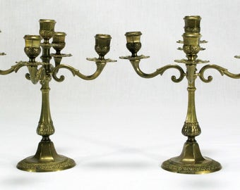 Candleabras, Pair of Candleabras, Candlesticks, Pair of Candlesticks, French Candleabras, French Candlesticks