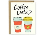 Coffee Card - Coffee Date Love Card