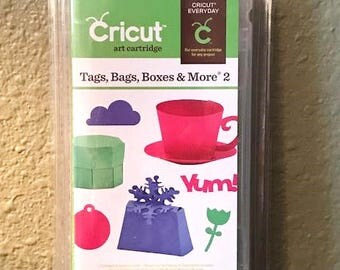 Cricut Tags Bags Boxes & More 2 Cartridge - New