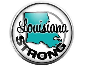 Louisiana Strong - 18MM Glass Dome Candy Snap Charm GD0295