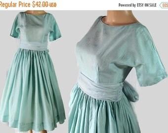 40%OFFSALE 50s 60s Dress Party Prom Vintage Wedding Ligh Aqua Blue