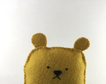 Sad Bear - Cute moody soft felt guy