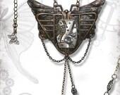Mothman Steampunk Necklace - Za Dee Da - The Mystic Seeker Collection