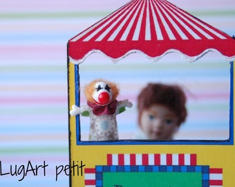 Clown Puppet for dollhouse (1:12 scale)