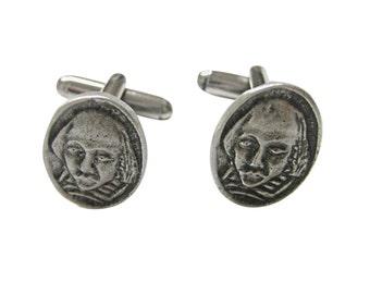 William Shakespeare Head Cufflinks