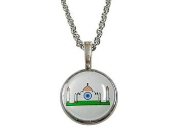 India Flag Taj Mahal Necklace