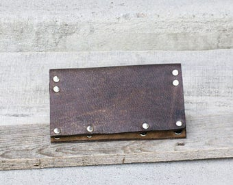 READY TO SHIP *** Leather Wallet, Leather Phone Wallet, Phone Wallet, Mens Wallet, Mens Leather Wallet, Checkbook Wallet, Travel Wallet