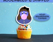 Violet Beauregarde toppers Willy Wonka Party- Assembled and shipped
