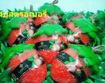 Natural Handmade Fruit Soap - Strawberry