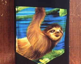 Sloth pocket shirt tee S/M/L/xl/2x/3x