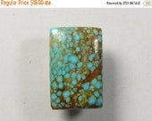 Spiderweb Turquoise Designer Cabochon, 12x17x4.5 mm, Edgar 8 Turquoise mine, rectangle shape, small cab, ring size cab (t1971)