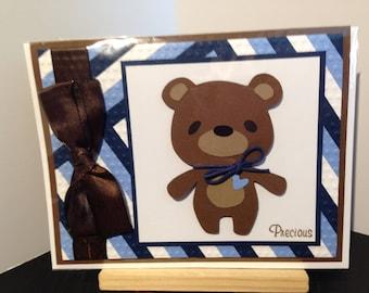 Welcome Precious baby bear card
