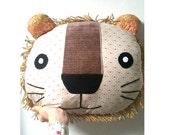 Lion Pillow Decorative Pillow Lion Cushion Throw Pillow  Gift Home Decor Animal Pillow Lion Decor Stuffed Lion