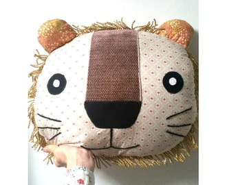 Lion Pillow Decorative Pillow Lion Cushion Throw Pillow  Gift Home Decor Animal Cushion Lion Decor Stuffed Lion, FREE SHIPPING