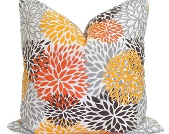 OUTDOOR Orange Pillows, Outdoor Pillow Covers, Pillow Cover, Orange  Decorative Pillow, Orange