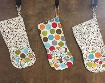 Sale-Dog Paw Stocking-ready to ship