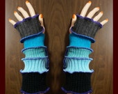 reserved for Gina, arm warmers, armwarmers, elf coat, women Fingerless, Gloves, mittens, patchwork, Upcycled, Cosplay, Gift