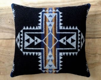 Wool Pillow - Cross Arrow Boho Southwest Bohemian